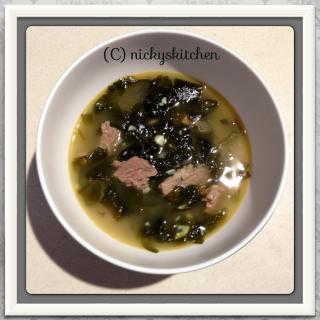 미역국 - seaweed soup