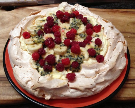 homemade pavlova