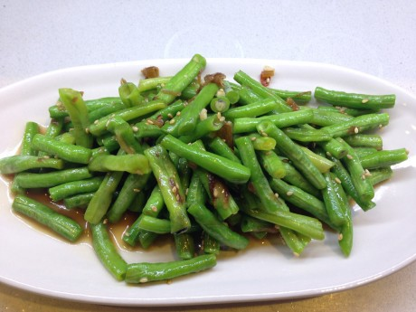 long beans cooked