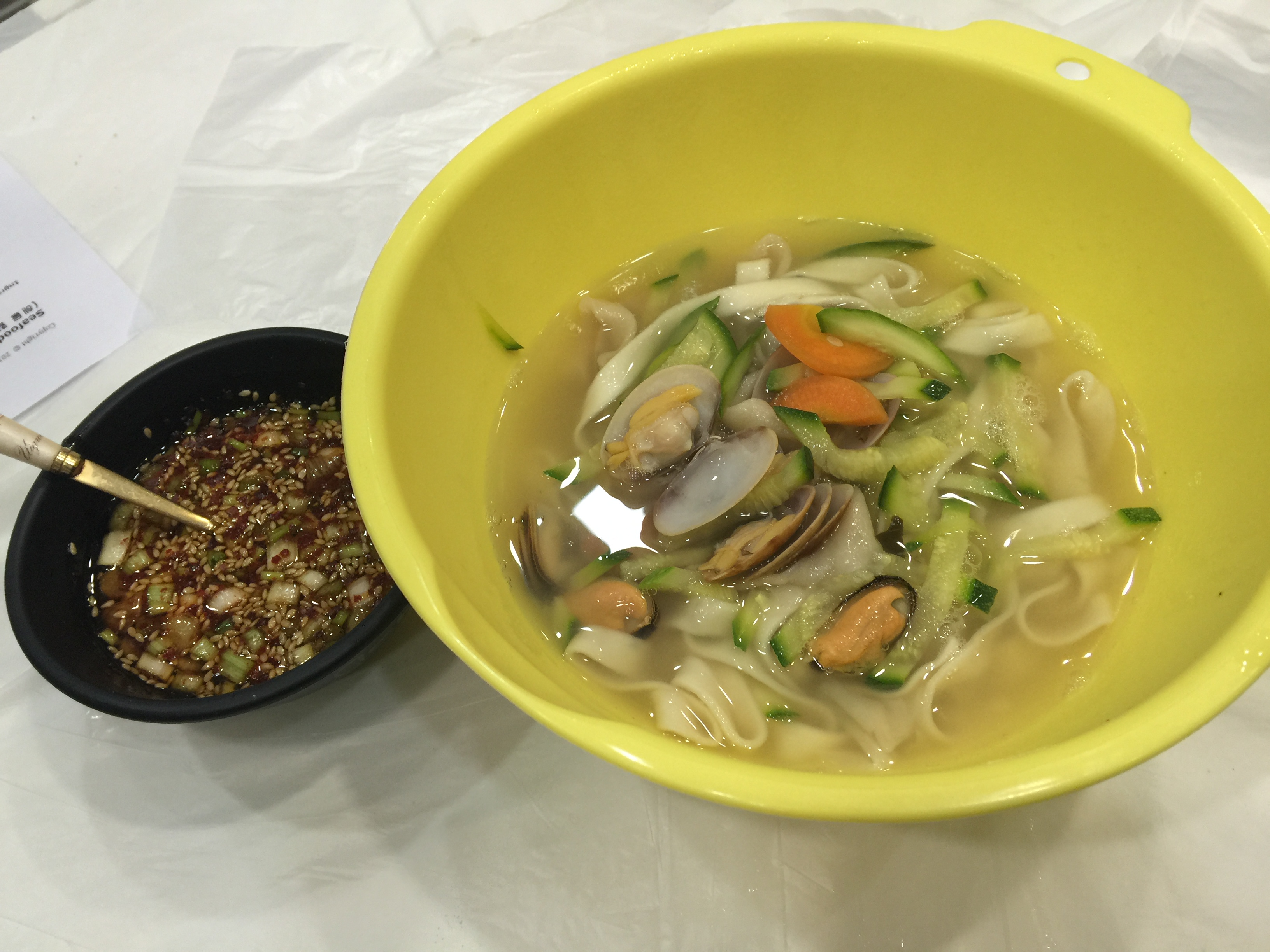 Korean handmade noodle soup